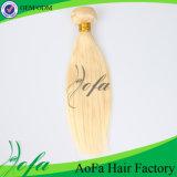 膚触りがよいおよび方法#613ブロンドのまっすぐな人間の毛髪の織り方