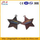 In lega di zinco a forma di stella su ordinazione la medaglia della pressofusione