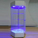 Vetrina girante acrilica di vendita calda LED