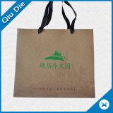 Mode Shopping d'enrubannage Emballage de cadeau sac de papier avec poignée