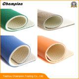 El PVC garantizado de la venta al por mayor de la calidad se divierte el suelo, revestimiento de suelos usado suelo plástico del tenis de vector de los deportes del PVC de la alta calidad