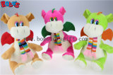 100% Polyester Fabric Green Cuddly Plush Baby Animal Dinosaur Toy with Scarf for Kids Bos1198