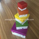 Printing Customized Nesting Paper Box Set Public garden Shaped Gift Boxings