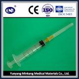 Medizinische Wegwerfspritzen, mit Nadel (5ml), Luer Beleg, wenn Ce&ISO genehmigt ist