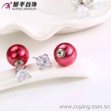 Rhodium Color New Design Fashion Jewelry Pearl Earring (27194)