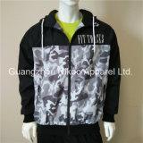 Mode de qualité imprimées Mens le phoque à capuchon coupe-vent vestes avec doublure en coton