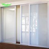 En 2018 a duré de couleur blanche porte coulissante à double vitrage en aluminium