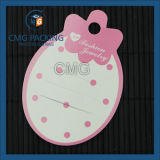Gedruckter PlastikHangtag für Schmucksachen (CMG-041)