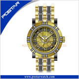 円形のダイヤルの水晶腕時計の工場価格OEM及びODMの腕時計