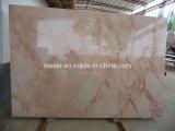 Mattonelle di marmo beige della pietra della lastra del fiore caldo