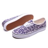 Hip Pop Estilo Roxo Printed Sneakers White Lace Plimsolls Shoes