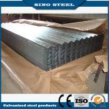 Hoja galvanizada acanalada del material para techos del acero de hoja que cubre