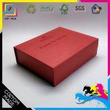 De vrije Zwarte doos Van uitstekende kwaliteit van de Steen van de Douane van het Risico met de Witte Zilveren Hete het Stempelen Rechthoek die van de Gift van het Embleem Document vouwen