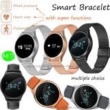 O Bluetooth Bracelete inteligente com a freqüência cardíaca e pressão arterial Monitor M7