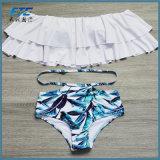 Bikini-Frauen-Badebekleidungs-WeinleseBandeau des Bikini-hohe Frauen-Taillen-Badeanzug-2018 Striped reizvoller Unterseiten-gesetzten Klage-Bikini