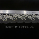 Tessile netta del tessuto del merletto del ricamo del filato degli accessori dell'indumento di modo