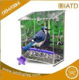 明確な反対のアクリルペット鳥食糧送り装置
