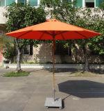 Ombrello concentrare del Palo della vetroresina di alta qualità 2.7 tester di ombrello rotondo con la base del basamento delle rotelle per il giardino degli hotel