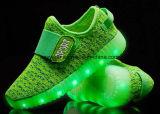 Los niños Deportes zapatos Flyknit Iluminación con LED de luz de pared a los niños calzado zapatillas (732)