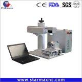 Laser die van de Snelheid van de vezel 20W 30W de Snelle Machine voor Metaal merken