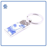 Фарфор Keychain изготовленный на заказ подарка нации Голуб-Белый с кольцом металла