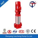 Pompe à incendie à plusieurs étages verticale combattant la pompe à eau intégrée de bouche d'incendie de pompe de gavage