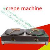 2 Tête électrique commercial du gaz en acier inoxydable Crepe Maker 40cm crêpe ronde Faire Maker