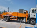 A China fez motor diesel pequeno / médio veículo diesel montado chassis de caminhões Isuzu Bomba Betoneira