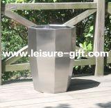 Fo9047ステンレス鋼の庭の装飾的な植木鉢