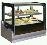 ステンレス鋼のデスクトップのケーキのショーケース(冷たい)