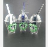 Glaswasser-Rohr des Starbucks-Cup-Glasrohres, das Station aufbereitet