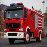 De Vrachtwagen van de Brandbestrijding van de Tank van het Water van het Poeder van het Schuim van het Brandblusapparaat 8000L Sinotruk