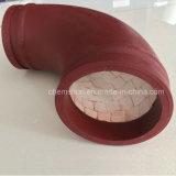 Tubo com revestimento em cerâmica com revestimento de mosaico de Alumina