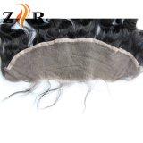 Fermetures brésiliennes de frontal de lacet de cheveux humains de lacet suisse