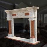 Novo Design Interior design utilizado Mantel lareira em mármore Surround