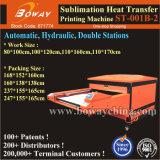 2 stations hydrauliques/pneumatiques automatiques de transfert de chaleur en métal recouvert de machine d'impression Appuyez sur l'imprimante