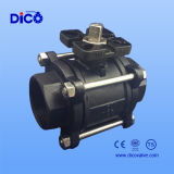 válvula de esfera da solda de extremidade 3-PC com almofada de montagem (ISO5211)