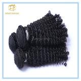 Hochwertige natürliche Farbeperuanisches Jerry-lockiges Jungfrau-Haar mit vollem Häutchen Wfpjc-001