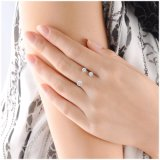 De Ring van de Vinger van de Manier van de Ster van de Juwelen van het Zirconiumdioxyde van het Messing van drie Steen