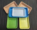 Contenitore di alimento su ordinazione della plastica PP/Pet del commestibile di sicurezza per il pollame della carne con il rilievo assorbente