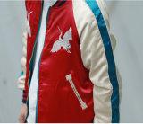 カスタム方法によって刺繍される可逆記念品のサテンのボマージャケット卸しで