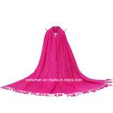 女性のための20のカラーの方法Pashminaの固体長いスカーフ