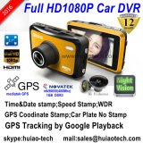 Novo ID de habitação privada 2.7inch FHD 1080P Car Black Box DVR com Novatek 96650 e 5.0 Mega CMOS Car Dash Camera Built-in G-Sensor, Google Map GPS Tracking