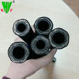 Flexible en caoutchouc noir de 2 pouces haute pression sur le fil tressé en acier flexible hydraulique