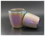 Heet verkoop Kruik van het Glas van de Kaars van het Plateren van de Goede Kwaliteit de Ionen met het Licht van de Thee