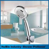 Luxury 3 chuveiro de mão de função com a mangueira e braçadeira Titular Spa Experience, pressão alta, a poupança de água e de fácil instalação, Acabamento cromado