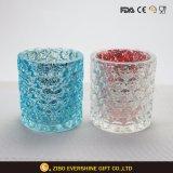 卸売によってカスタマイズされる高品質の装飾的なガラス蝋燭ホールダー