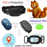 Resistente al agua Mini GPS Tracker de Pet con un largo tiempo de espera de PM01