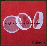 Placa de cristal circular clara resistente a la corrosión de cuarzo de la silicona