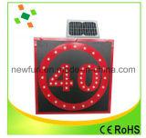 Aluminum Speed Limited-Solarverkehrszeichen